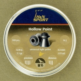 Пули H&N Hollow Point 4,5 мм